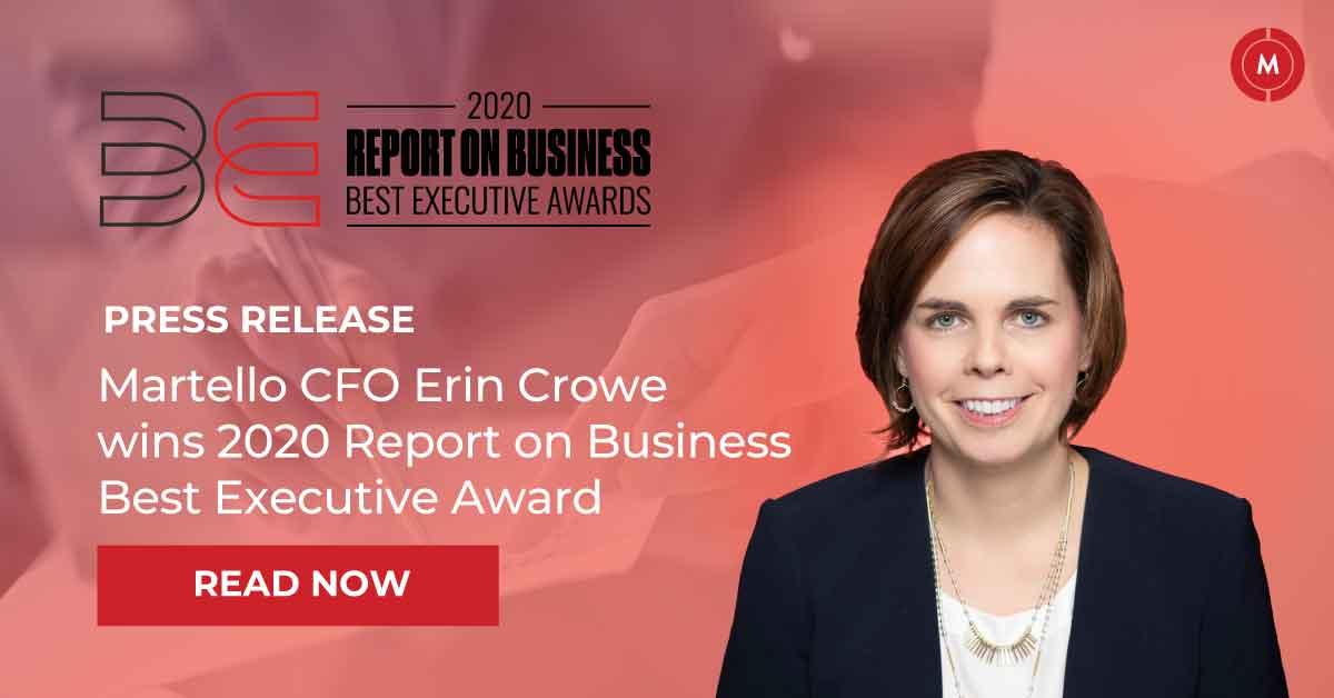 Martello CFO Erin Crowe wins 2020 report on business best executive award
