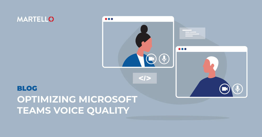 Optimizing Microsoft teams with two people talking via video call