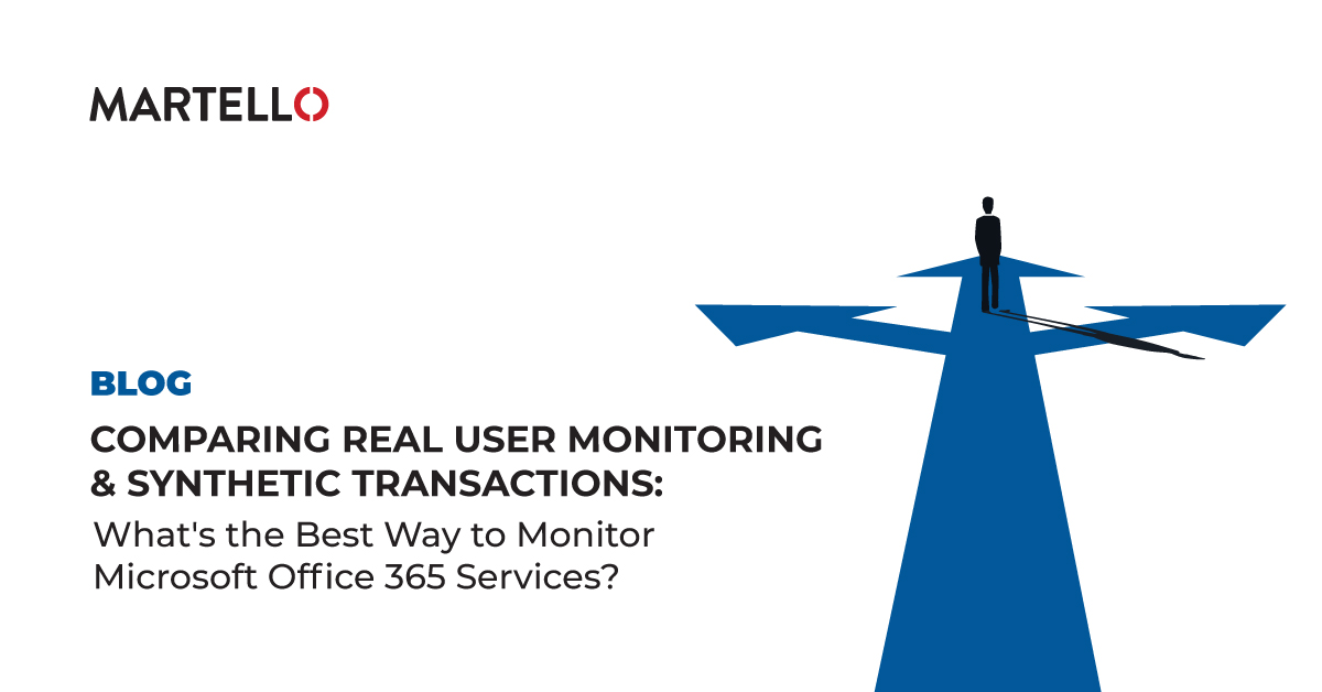 Comparing real user monitoring and synthetic transactions