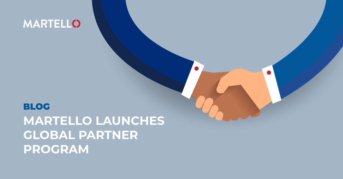 Martello global partner program with two people shaking hands